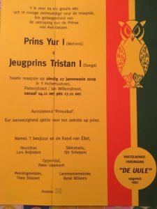 Resepsie Prins en Jeugprins VV de Uule @ De Boew | Geleen | Limburg | Nederland